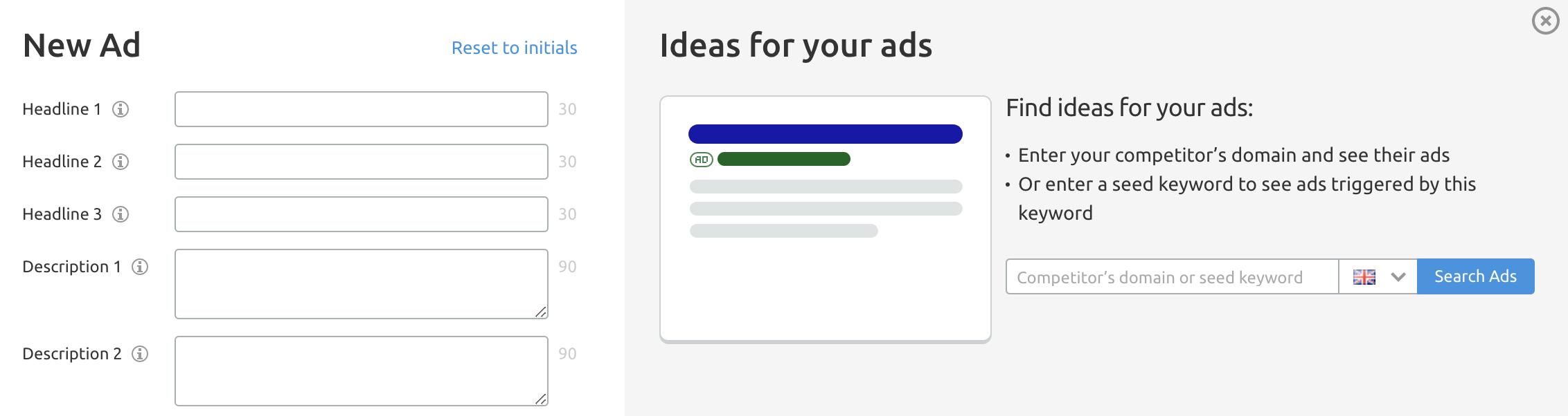 SEMrush Ad Builder Image