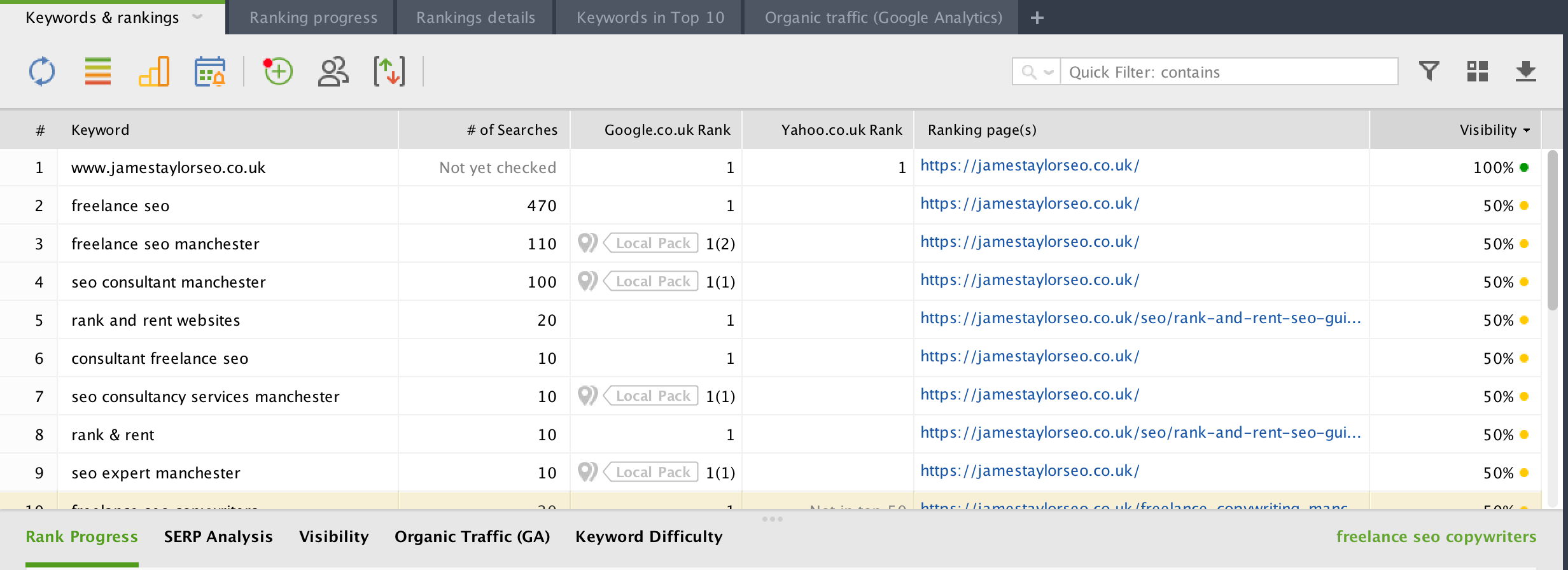 rank tracker image screenshot