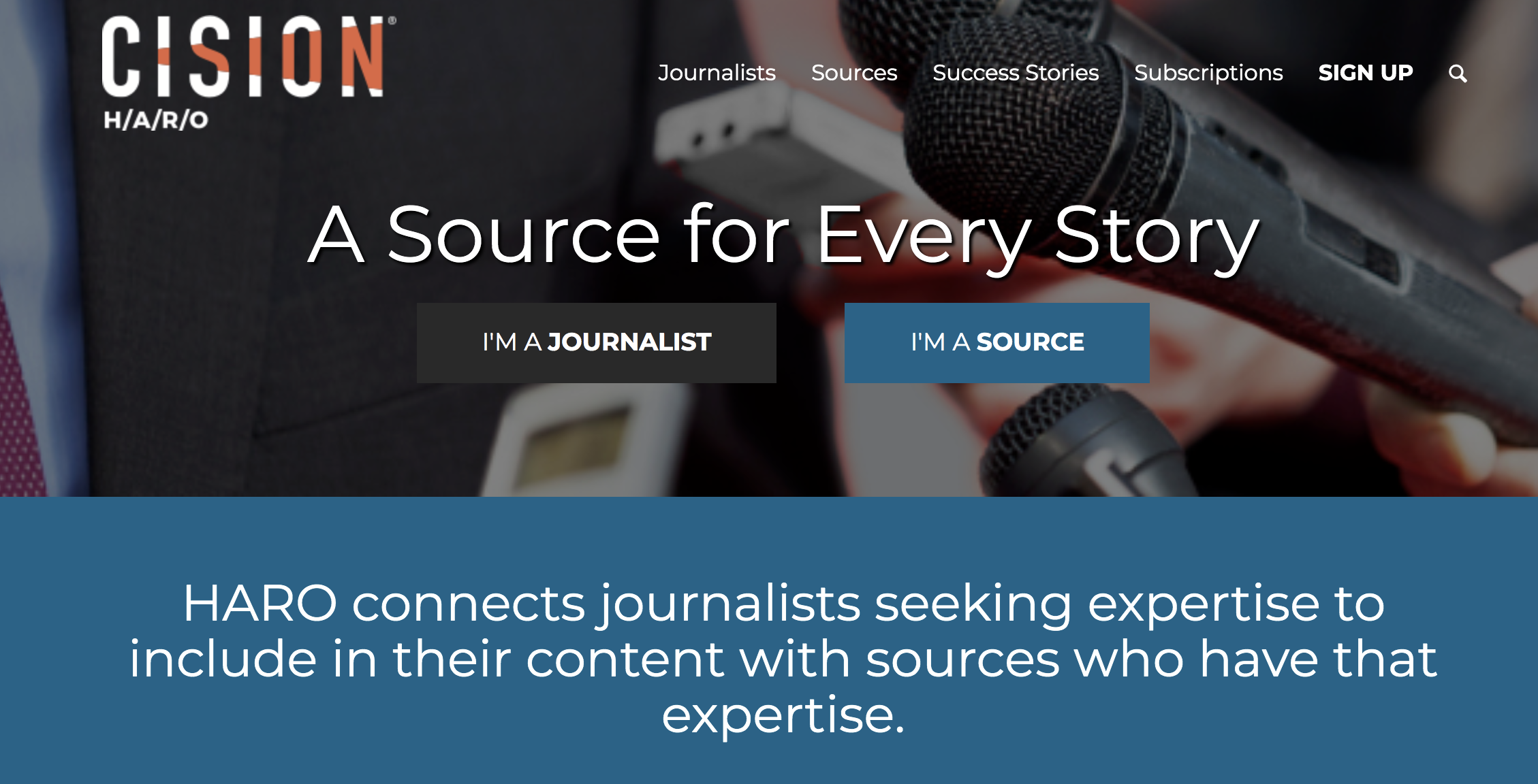 Help A Reporter Out (By Cision)